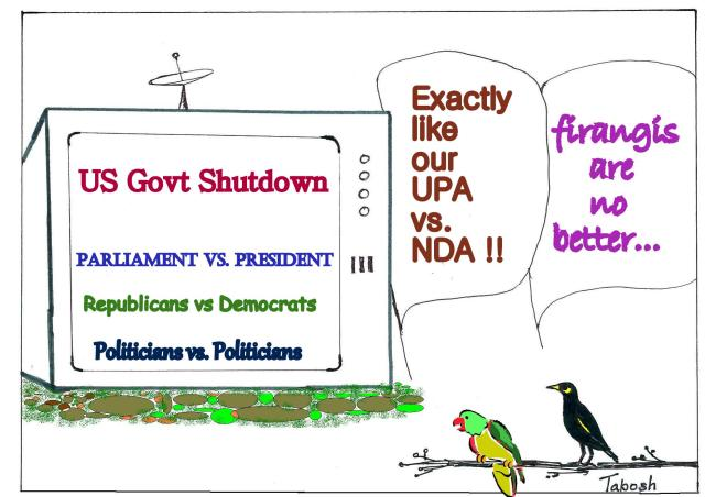 American Democracy : Cartoon Tota-Myna